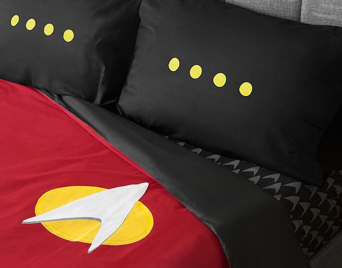 Star Trek Tng Uniform Bedding Set Fandoms Nerd