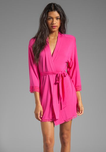 Juicy Couture Sleep Essential Robe in Lychee | Frilly things ...