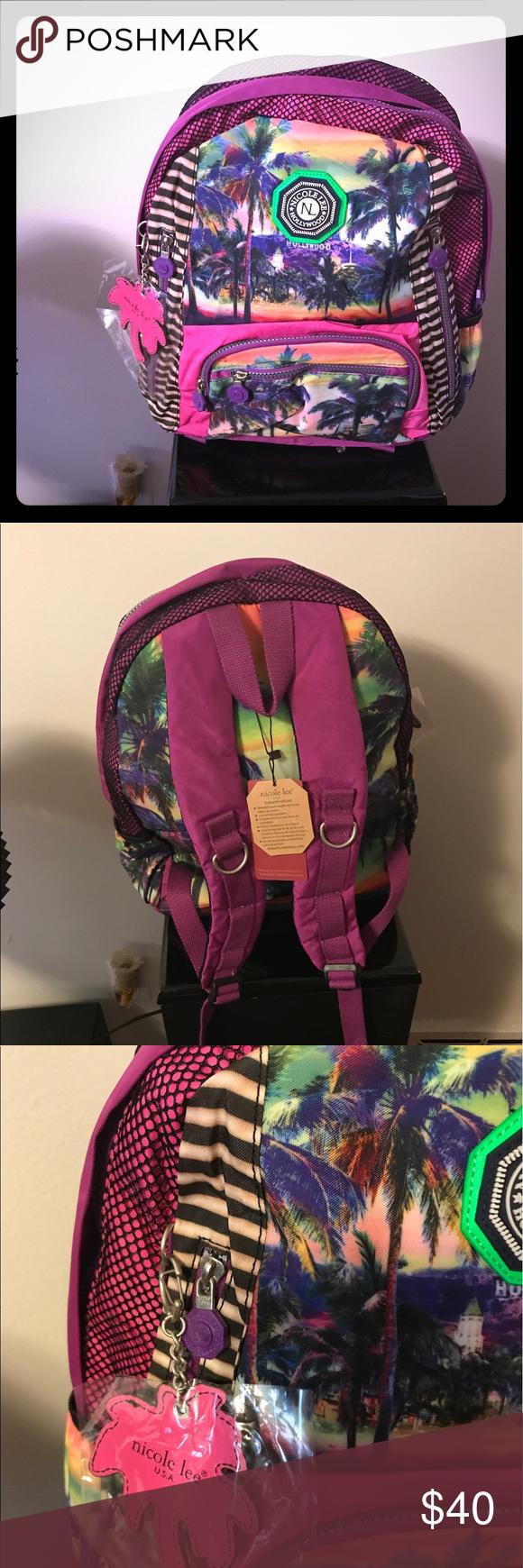 Brand New Nicole Lee Backpack Nicole Lee Hollywood colorful Backpack Nicole Lee Bags Backpacks