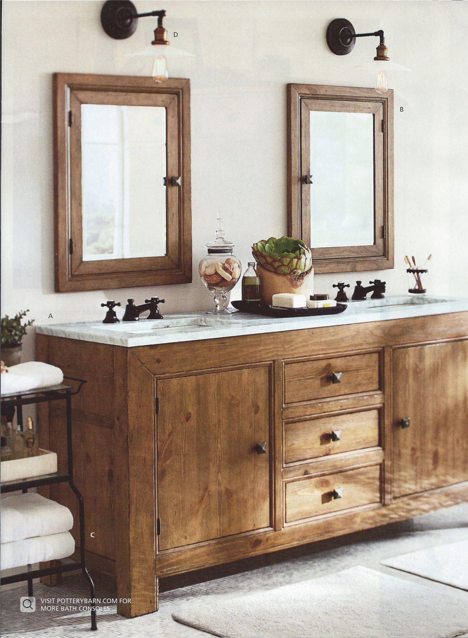 Rustic Bathroom Fixtures Pottery Barn Bathroom Wood