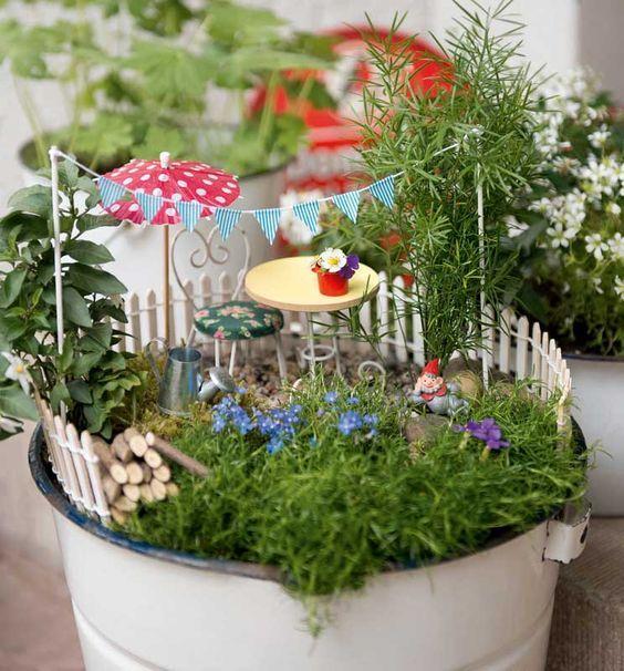 Deko Objekte Gartenzauber Mini Garten Miniaturgarten Geschenk Garten