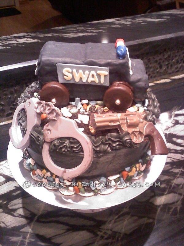 Tremendous S W A T Cake Cool Birthday Cakes Boys Bday Cakes Cake Personalised Birthday Cards Beptaeletsinfo