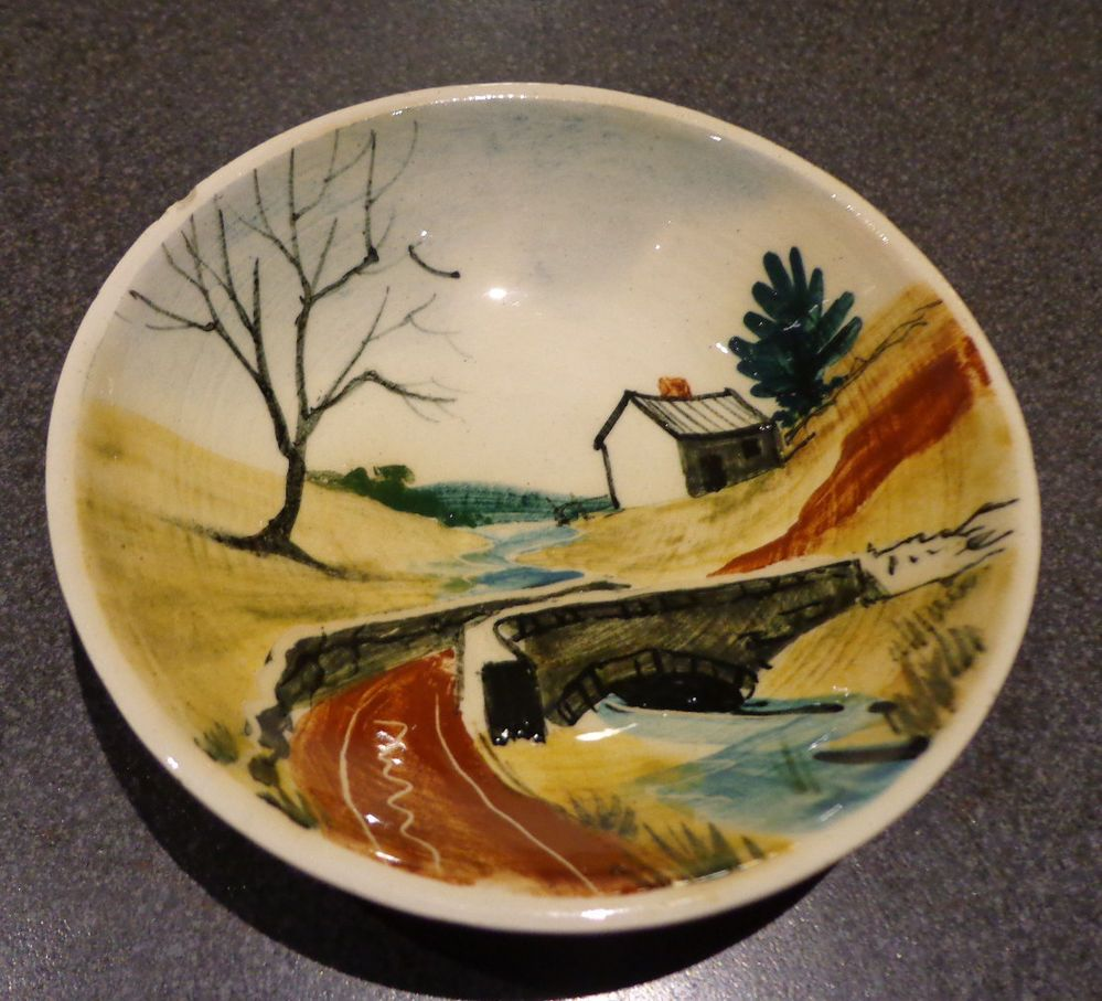1950s Dishes: Lovely Vintage Martin Boyd Pottery Dish Australian, 1950s