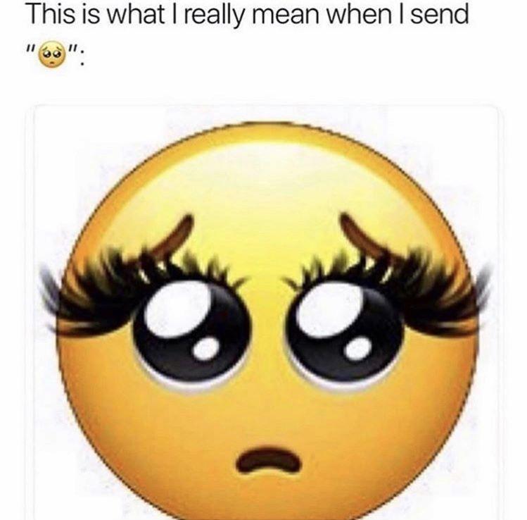 Eyelash Meme Mink Lashes Emoji