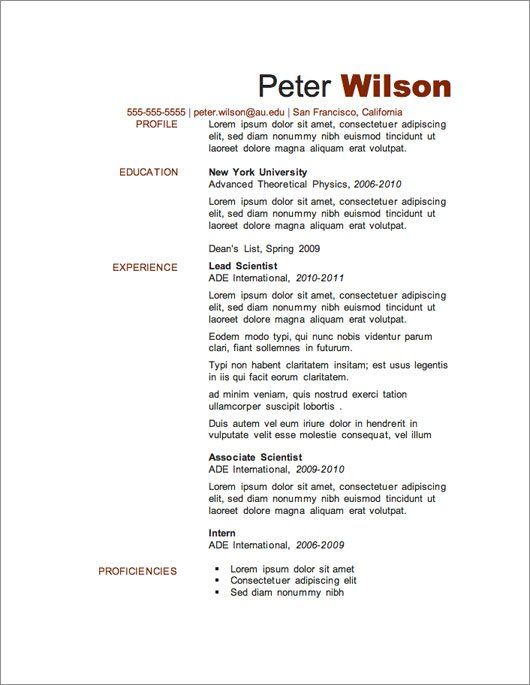 Awesome Resumes Template Best Template Collection -    www - resumes template