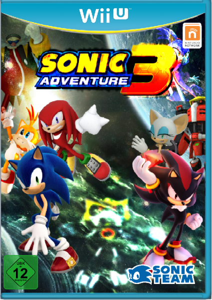 Sonic Adventure 3: Rise of Metal 3 0 Wii U Box Art Cover by
