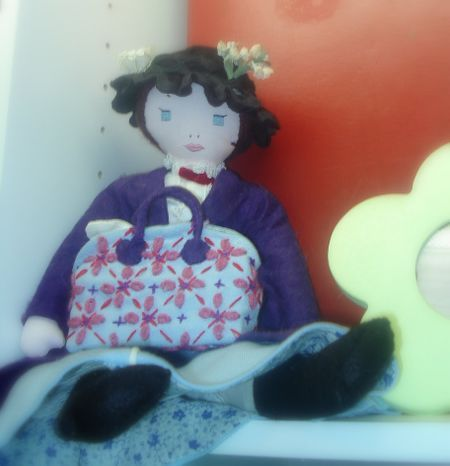 My mary poppins doll, handmade circa 1974. She's practically perfect in every way.