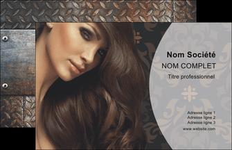 Carte De Visite Salon Coiffure DESIGN Et Decale Effet Metallique MLGI26330