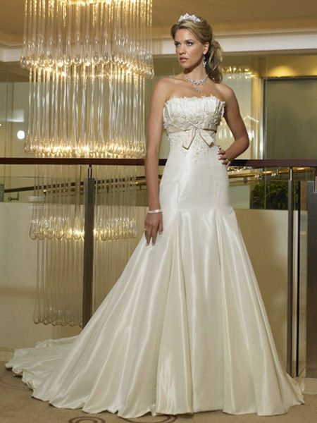 10 Best images about Mermaid Wedding Dresses on Pinterest  Satin ...