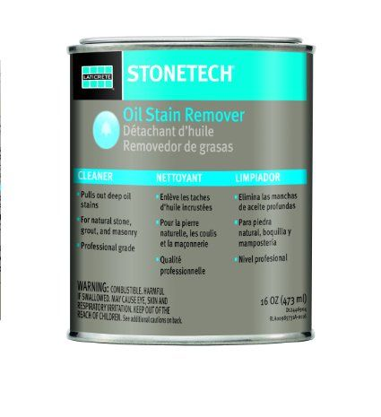 Stonetech Oil Stain Remover Cleaner For Natural Stone Grout Masonry Remove Oil Stains Oil Stains Stain Remover