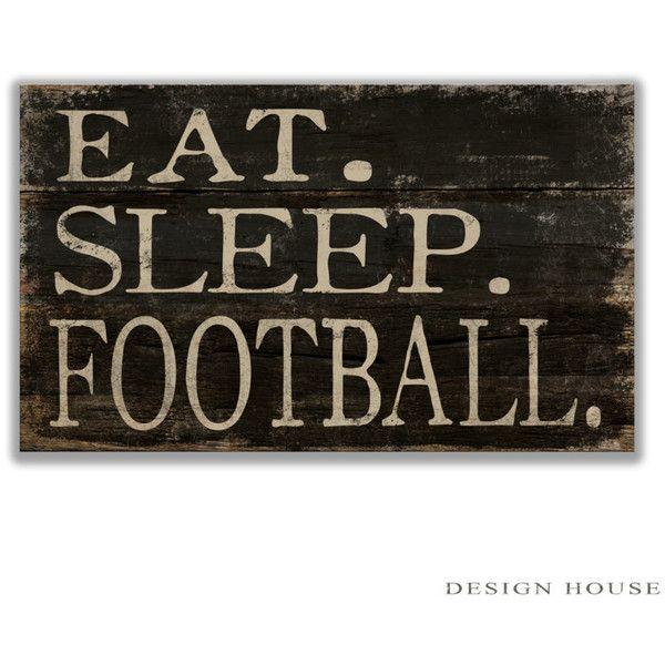 Wooden Sign Decor Eat Sleep Football Wooden Sign Football Decor Football Wall Art