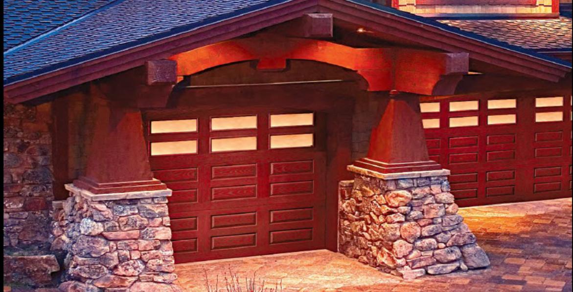 Designer Fiberglass Garage Doors    This could be the most beautiful wood garage door you ever seen. Except it's not wood.