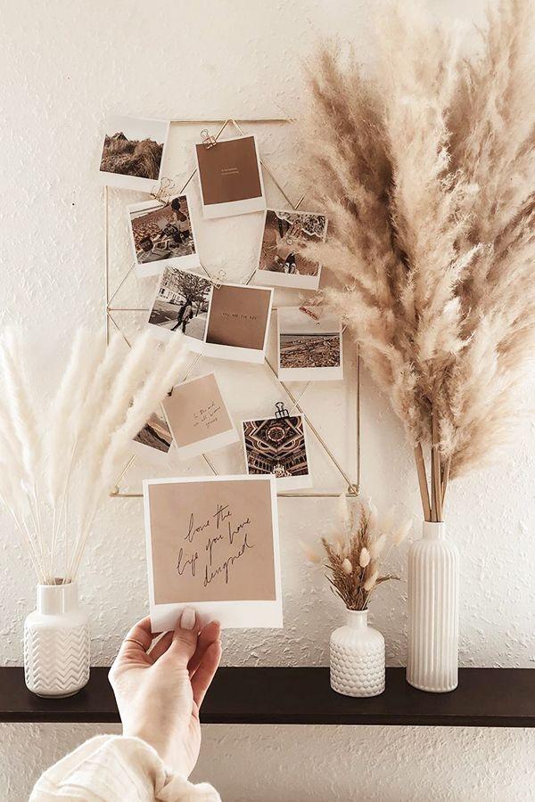 DIY-Dekoidee für Wohnzimmer Bilderwand 💡