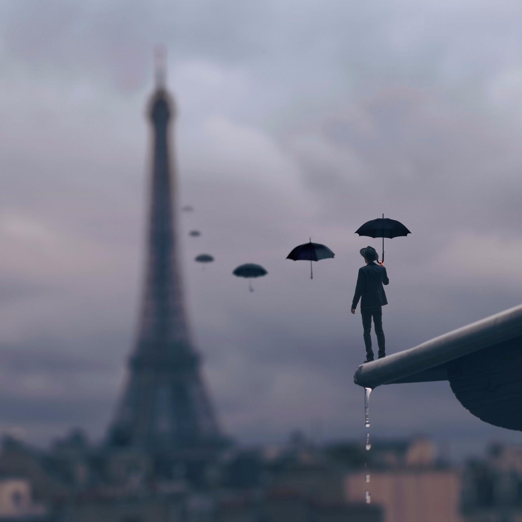 Обои фантазия, Облака, зонты, комната. Ситуации foto 16