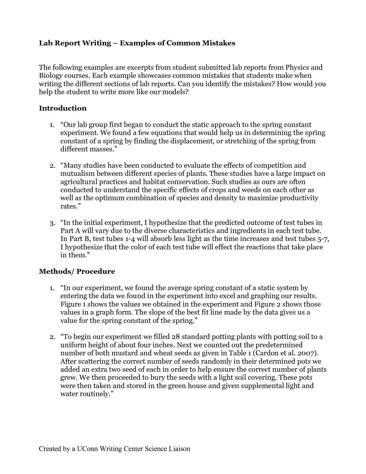 Report Writing Sample For Students - Horizonconsulting.co