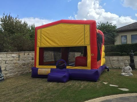 'Here is our Extra Large Funhouse 4-in-1 Combo with Water Slide! Looks like this customer knew how to beat the heat today. Check out all of our items at http://austinbouncehouse.rentals'