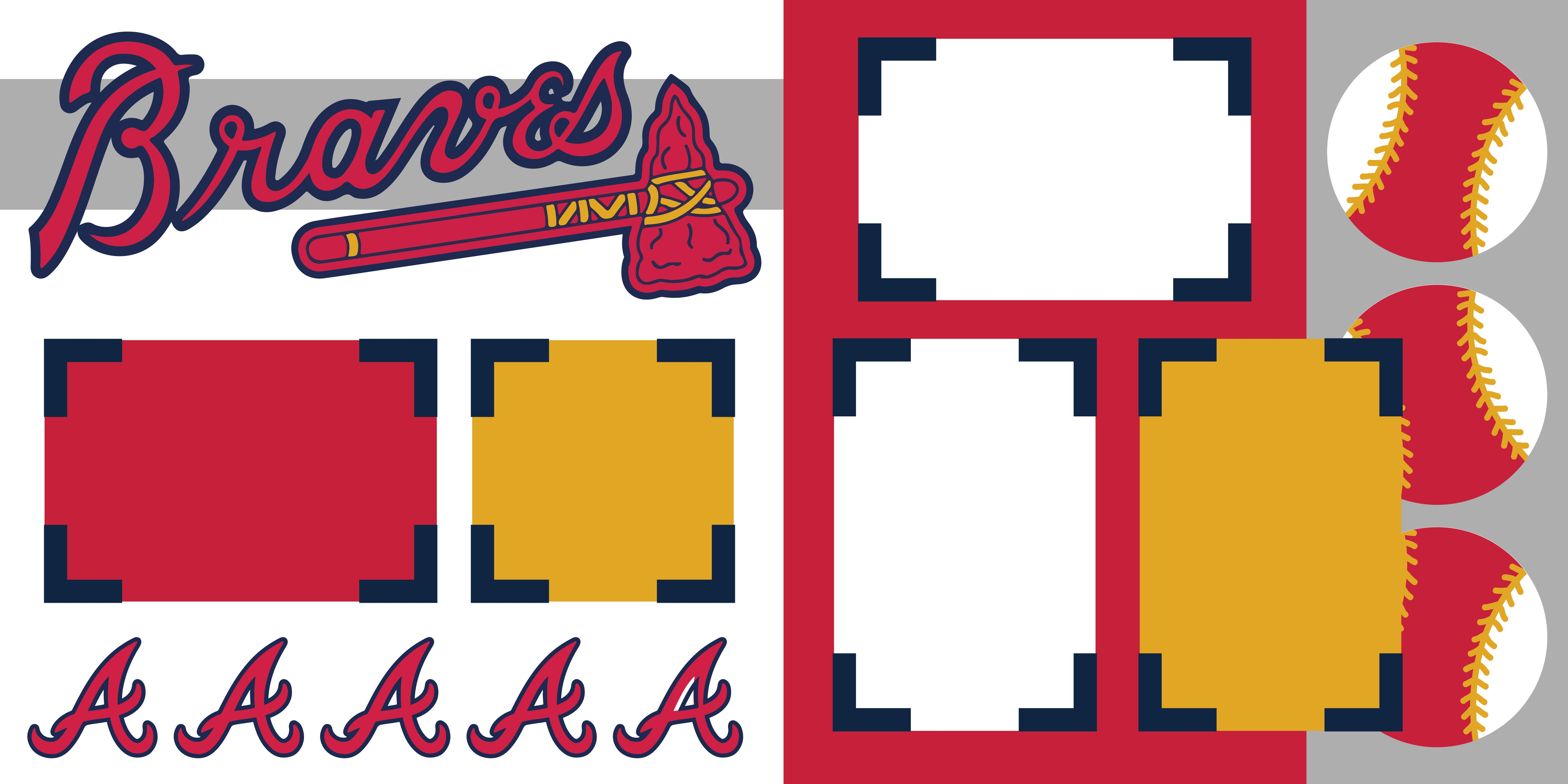 Atlanta Braves In 2020 Scrapbook Pages Atlanta Braves Scrapbook