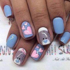 Nail art 2362 best nail art designs gallery nail heart heart 14th february nails bears nails cheerful nails heart nail designs hearts on prinsesfo Gallery