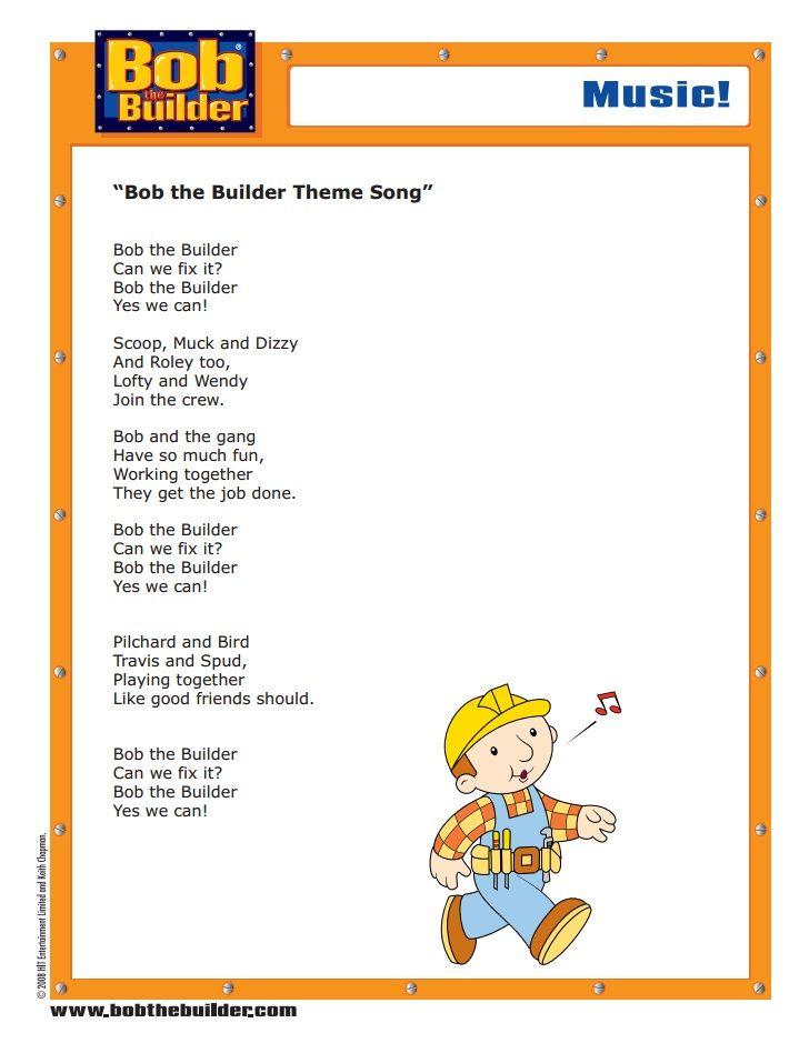 Pin By Lmi Kids On Bob The Builder Bob Le Bricoleur Bob The Builder Bob Music Parent Activity