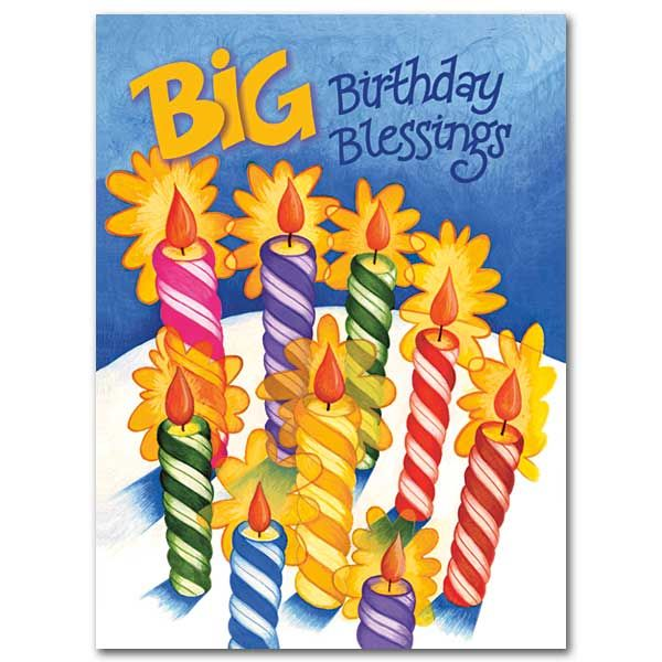 Big Birthday Blessings Birthday Card Christian Birthday Cards Kids Birthday Cards Birthday Blessings