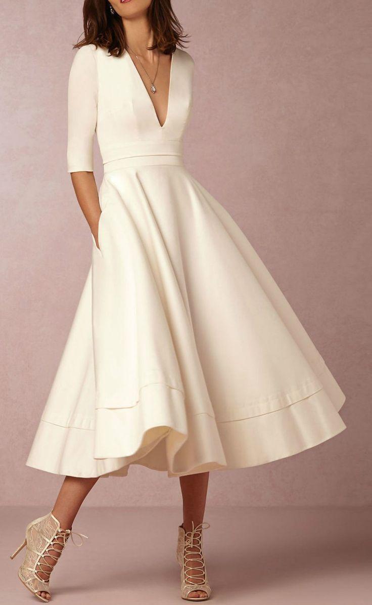 Simple elegant white dress simple dresses pinterest elegant