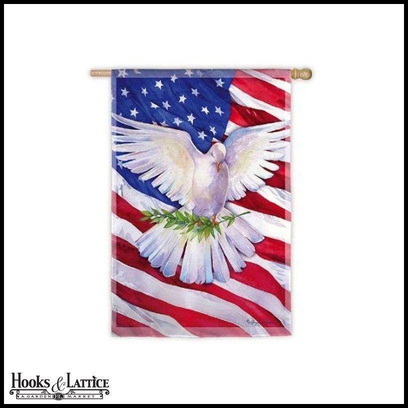 Small Dove American Flag 18 X12 5 9 48 Peace Dove Doves Patriotic