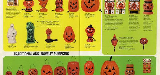 1971 Halloween Blow Mold Advertising Ad Baked Metal Repro Sign 9 x 12 60134