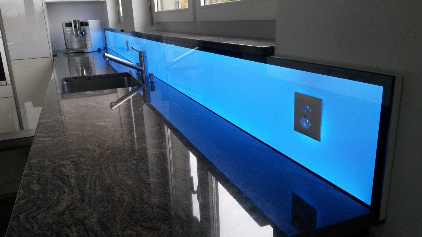 LED RGB Kchenpannel light wall beleuchtete