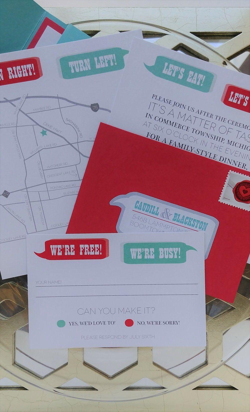 Modern Lake Themed Wedding Invitations Gift - Invitations and ...