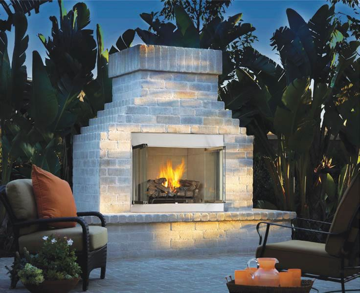 Superior 42 Stainless Steel Outdoor Gas Fireplace In 2019 Outside