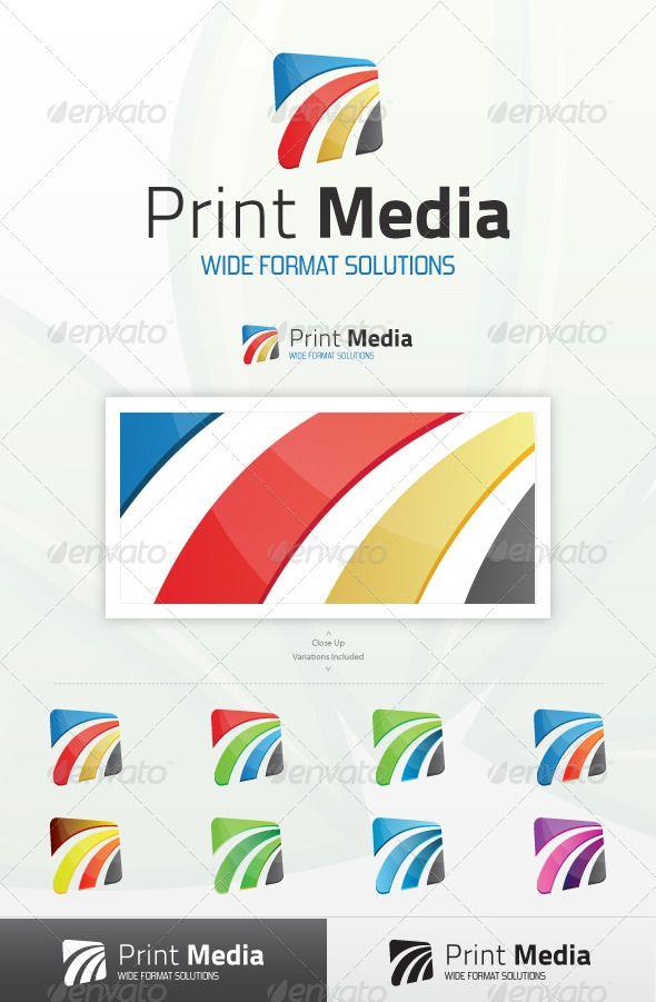 Print Media Logo | Logo templates, Logos and Custom fonts