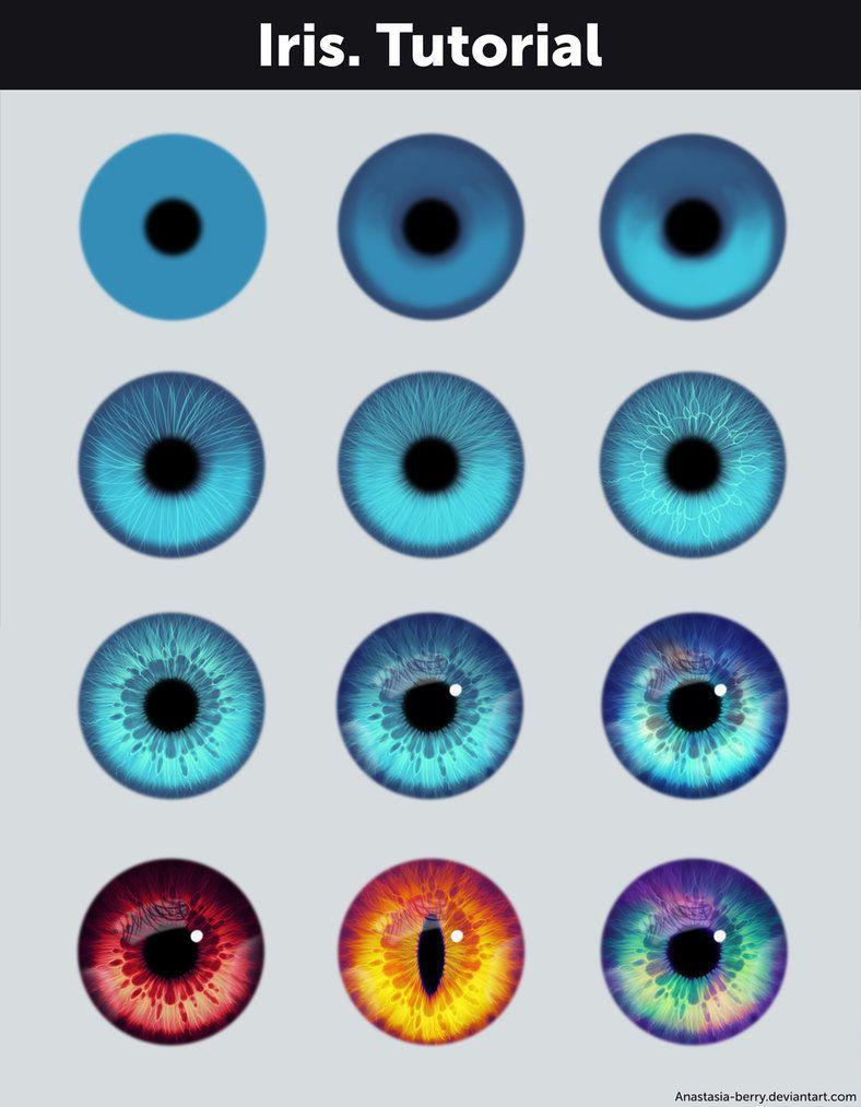 Swagneto — drawingden: iris. Tutorial + references by.   digital.