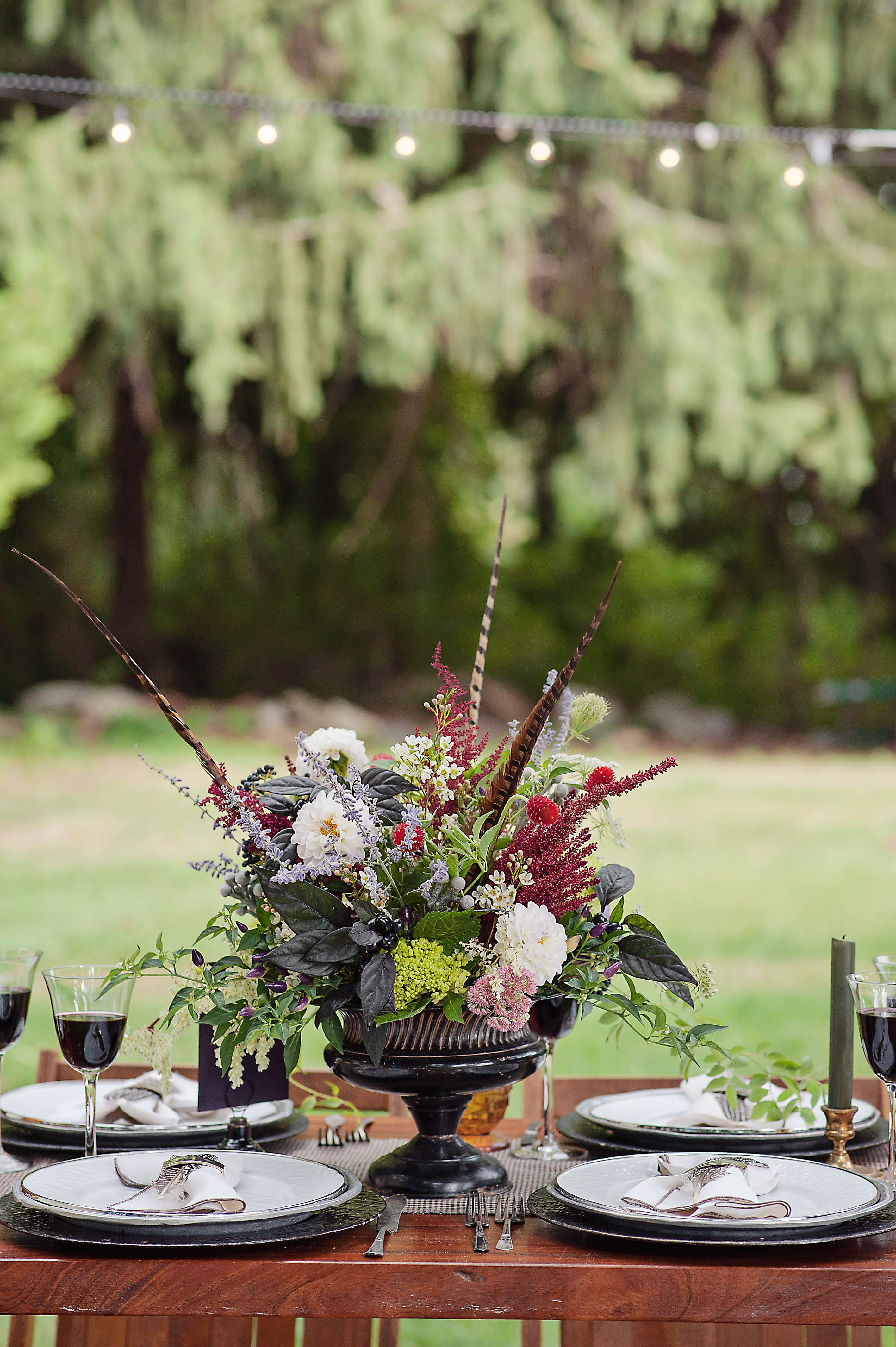Local farm flowers masculine rustic vintage tablescape for Masculine rustic decor
