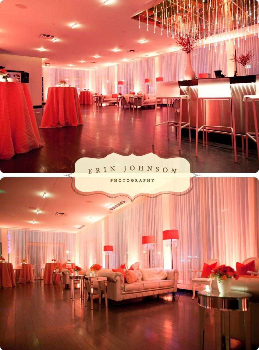Love the bold orange u0026 the lounge