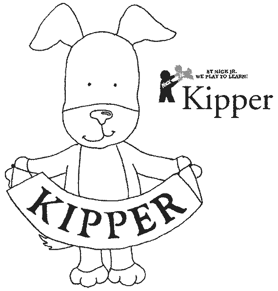 Kipper The Dog Colouring Pages Page 2