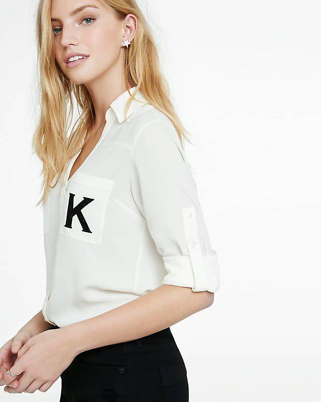 Original Fit Monogrammed K Portofino Shirt from EXPRESS