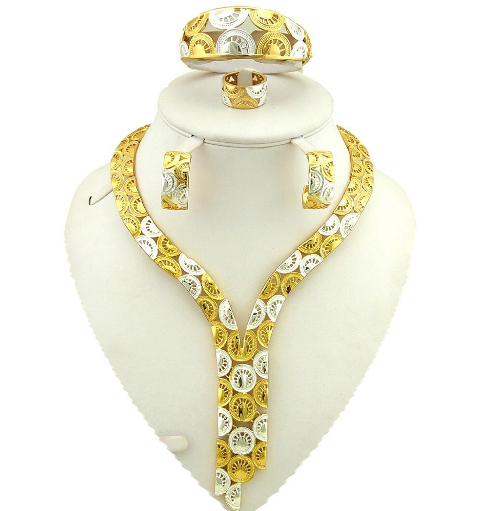 African Gold Jewelry Sets Best Quality Fine Fashion Women Necklace