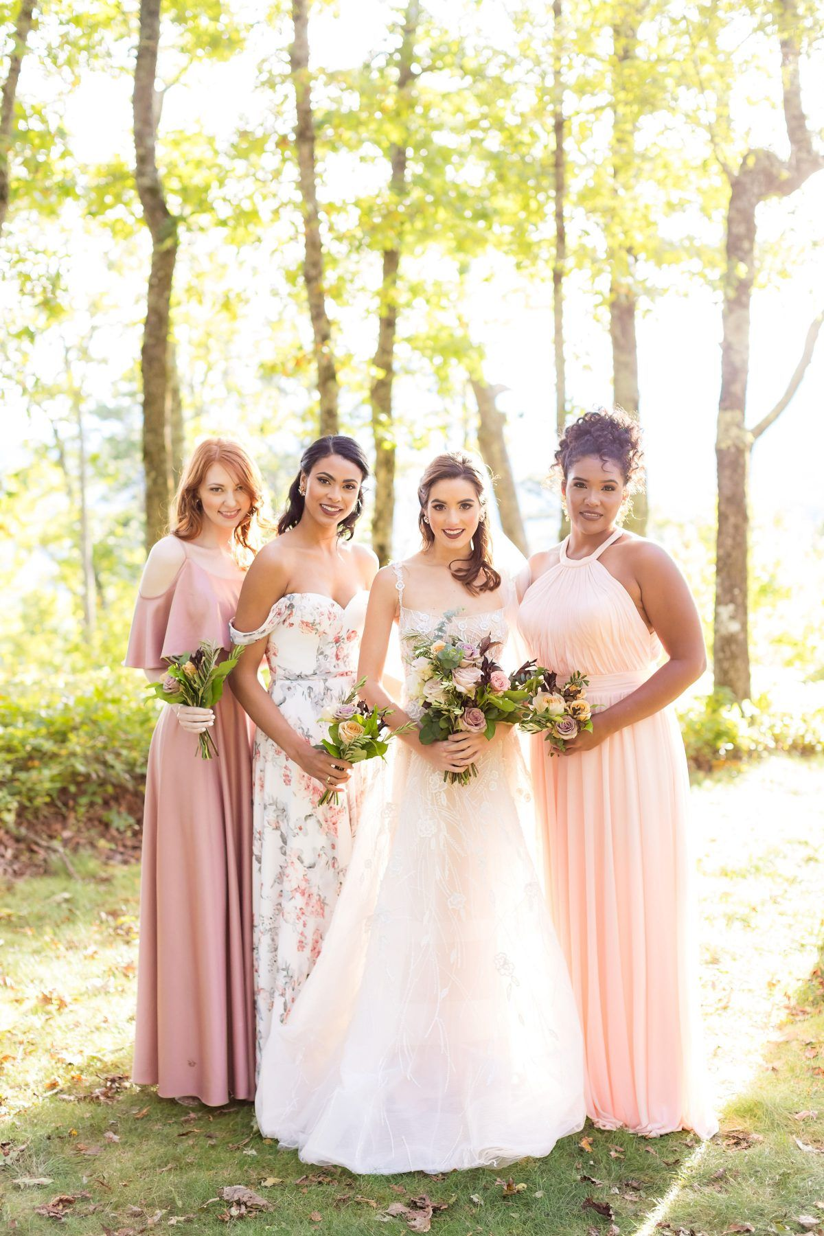 517cfe5e6e6c Cheap blush bridesmaid dresses that are under  200 available at Kleinfeld  Blush Bridesmaid Dresses