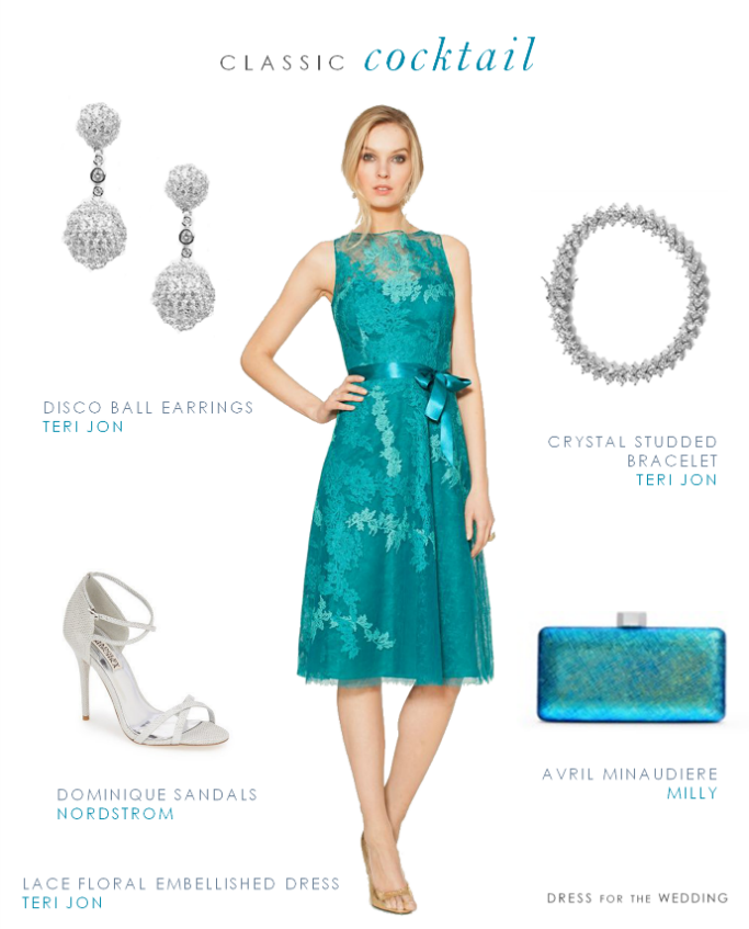 turquoise cocktail dresses