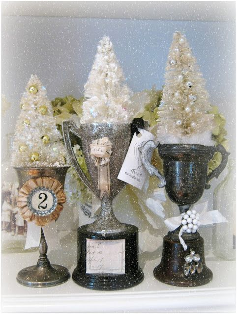Sandy's Creations: Things you can do with mini bottle-brush trees: