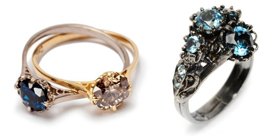 double julia front etal victorian diamonds ring champagne engagement solitaire artists e deville rings g diamond