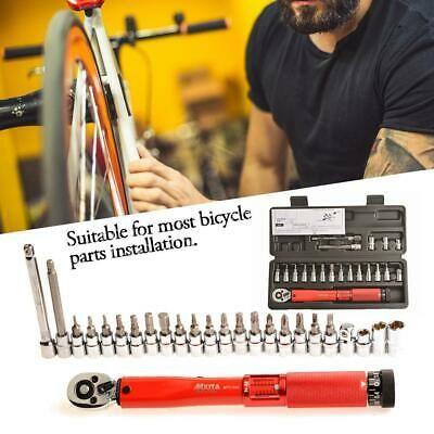 Bicycle Adjustable Torque Wrench Allen Key Tool Socket Set Kit 25 sets of 2-24NM