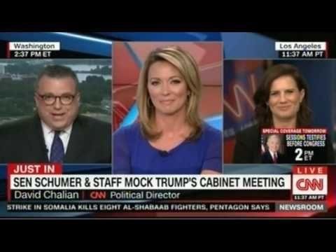 113) Senator Schumer & Staff Mock Trump's Cabinet Meeting ...