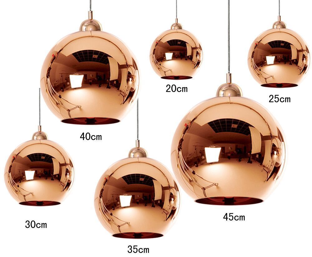 details about tom dixon copper mirror ball 6 size ceiling. Black Bedroom Furniture Sets. Home Design Ideas