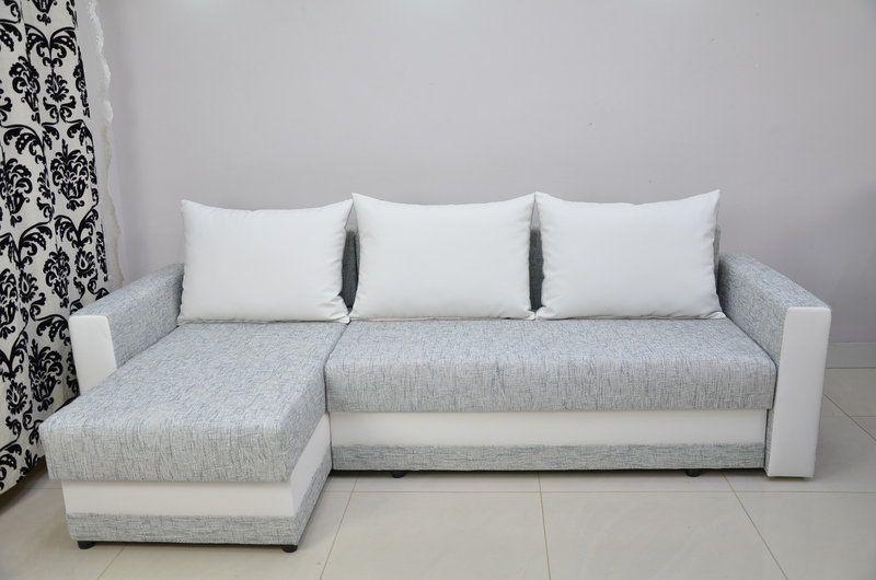 Corner Sofa Bed Kent Woven Chenillesilver Eco Leather White Sofa Bed Sofa Corner Sofa