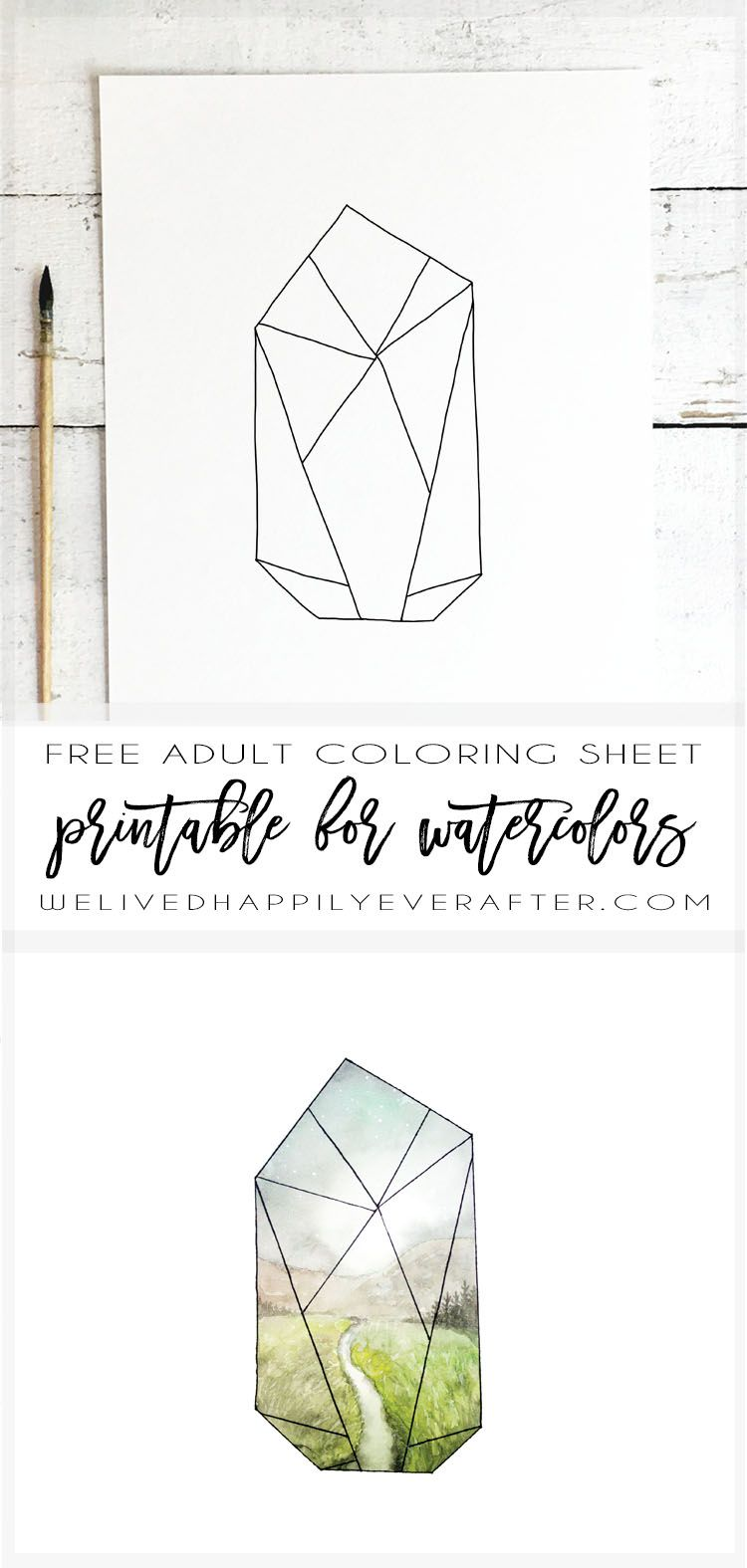 Beautiful Easy Free Printable Landscape Watercolor Coloring