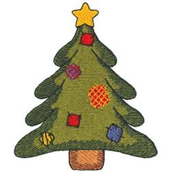 Christmas Tree Embroidery Design | AnnTheGran