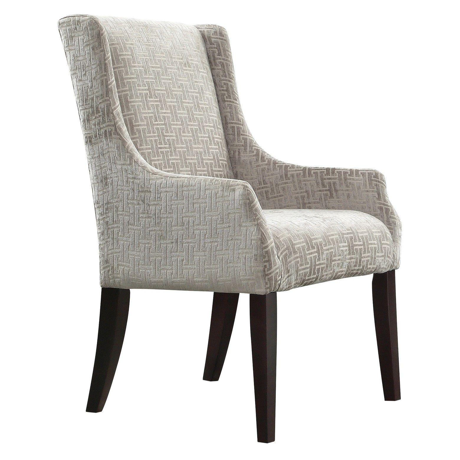 gardena sloped arm dining chair wood/velvety fret link - inspire q