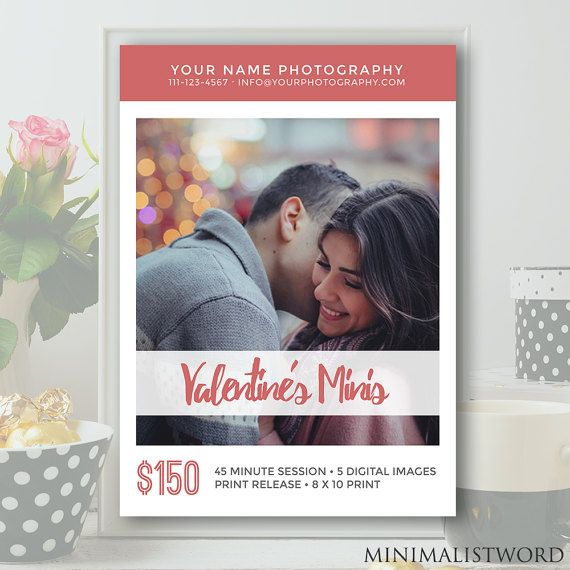 7x5 Couples Mini Sessions Template for Valentine's