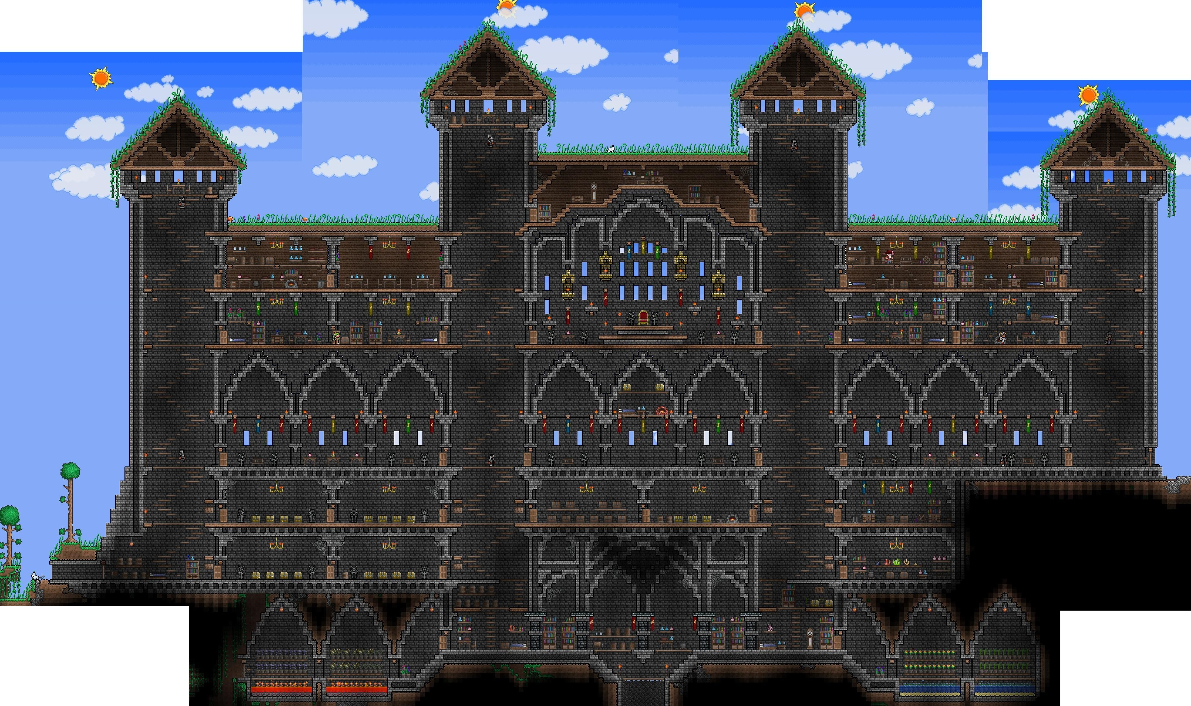 Terraria house? More like terraria mansion  I did not build